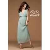 Wholesale - Sleeveless Chiffon V-neck Empire Soild Color Party Dress