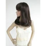 Wholesale - Women's Wig Medium Length Full Bangs Half Curly Rinka Style Fluffy