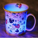 Wholesale - Stylish Cartoon Patterned Inductive Cup with Sparking Colorful LED Light