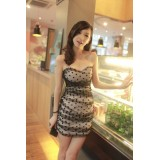 Wholesale - Mini Strapless Tulle Matched Color Sweet Heart Party Dress
