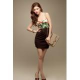 Wholesale - Mini Strapless Cotton Off-the-shoulder Party Dress