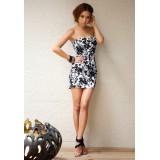 Wholesale - Mini Hollow Strapless Cotton Sweet Heart Party Dress