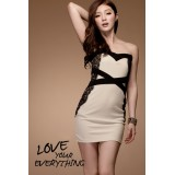 Wholesale - Mini Strapless Chiffon Off-the-shoulder Party Dress