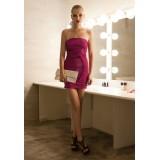 Wholesale - Mini Hollow Strapless Satin Soild Color Sweet Heart Party Dress