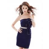 Wholesale - Mini Strapless Satin Soild Color Sweet Heart Party Dress
