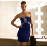 Wholesale - Mini Strapless Cotton Soild Color Sweet Heart Party Dress