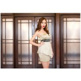 Wholesale - Mini Hollow Strapless Satin Sweet Heart Party Dress