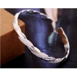 Wholesale - Silver Plating Spiraling Stripe Women's Bracelet