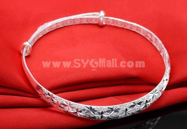 Silver Plating Star Pattern Women's Bracelet