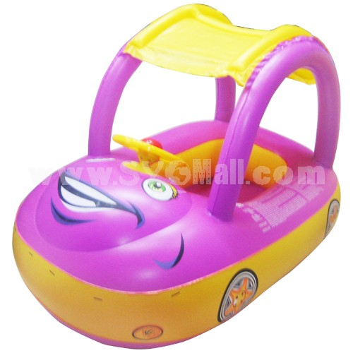 Tent Car Pattern Swim Sitting Ring for Children