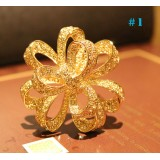 Wholesale - Crystal Gold Flower Style Brooch with SWAROVSKI Elements