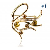 Wholesale - Crystal Swan Style Brooch with SWAROVSKI Elements (9129)