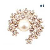 Wholesale - Crystal Pearl Style Brooch with SWAROVSKI Elements