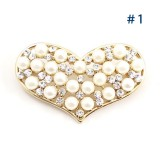Wholesale - Crystal Pearl Heart-Shaped Style Brooch with SWAROVSKI Elements (9164)