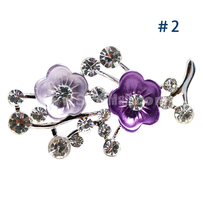 Crystal Wintersweet Style Brooch with SWAROVSKI Elements (9498)