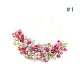 Wholesale - Classical Crystal Bouquet Hairpin with SWAROVSKI Elements (8881)