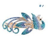 Wholesale - Crystal Peacock Style Hairclip with SWAROVSKI Elements (8905)