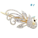 Wholesale - Crystal Peacock Style Hairclip with SWAROVSKI Elements (9466)