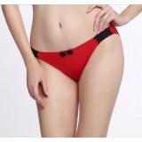 Wholesale - Low Waist Soild Color Bowknot Cotton Panties