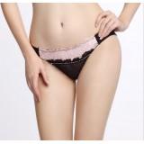 Wholesale - Low Waist Soild Color Lace Cotton Panties