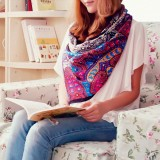 Wholesale - Plants Pure Mulberry Silk Printing Square Women's Kerchief Scarf