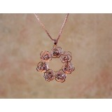 Wholesale - Rose Pattern Necklace with SWAROVSKI Elements