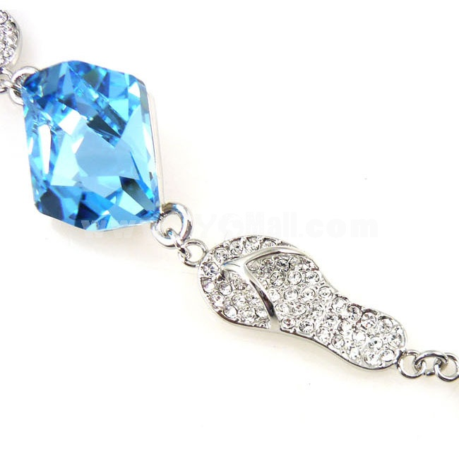 Italina Style Blue Crystal Bracelet with SWAROVSKI Elements (8845)