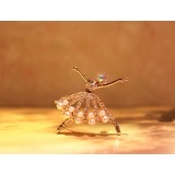 Wholesale - Ballerina Style Crystal Pearl Brooch with SWAROVSKI Elements