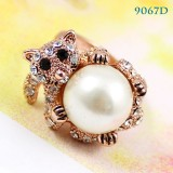 Wholesale - Crystal Pearl/Koala Style Ring with SWAROVSKI Elements (9067D)