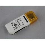 Wholesale - 4 in 1 USB 2.0 Memory Card Reader Multi-Function Blue Moon III