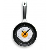 Wholesale - Creative Happy Time Omelette Pan Wall Clock
