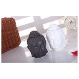 Wholesale - Buddha Frosted/Glazed Ceramic Furnace Essential Oil White Black Delicate (L915)
