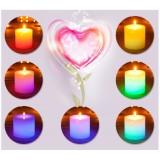 Wholesale - 7 Colors Change Candle Thermal Sensor LED Smokeless