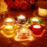 Wholesale - Crystal Glass Candleholder European Style 6 Colors (SJ113)