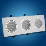 Wholesale - VOTORO LED Triple Bright Embedded Celling Spotlight/Wall Light/Top Light/Grill Light 15W