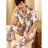 Wholesale - SHIRLEY Artifical Silk V-neck Short Sleeve Casual Pajamas