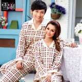 Wholesale - SHIRLEY Pure Cotton Printing Lapel Long Sleeve Casual Pajamas