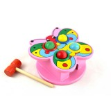 Wholesale - Butterfly Style Knock Table Beating Desk Children Puzzle Wooden Toys Educational Toys Multicolour (XBB-1401)