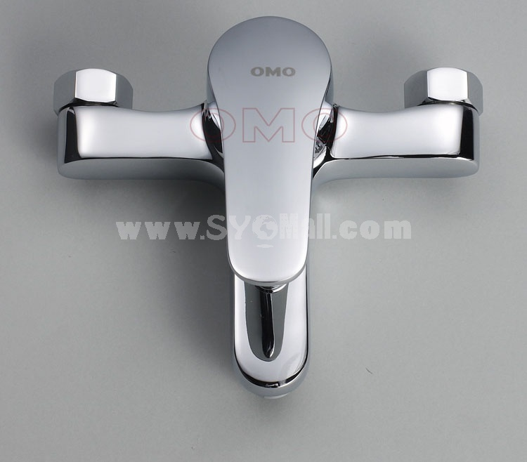 OMO All Brass Single Handle Tub Faucet with Valve and Water Outlet Cold and Hot Water B-85006C