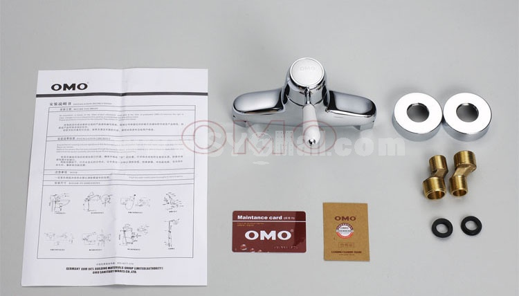 OMO All Brass Single Handle Tub Faucet Kit with Shower No Water Outlet B-88009CP-4