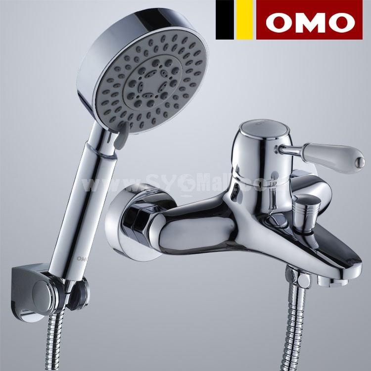 OMO All Brass Single Handle Tub Faucet Kit with Shower and Water Outlet B-85009CP-4