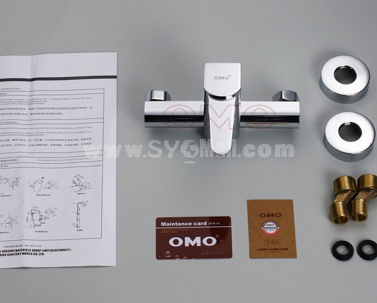 OMO All Brass Single Handle Tub Faucet Kit with Shower No Water Outlet B-88001CP