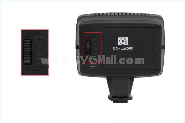 CN-LUX560 LED Video Light Camera Lamp for Camera DV Camcorder Lighting 3200K/5400K 56 LEDS