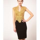 Wholesale - Karen Millen Sexy V Neck Graceful Temperament Debutante Party Dress DN038