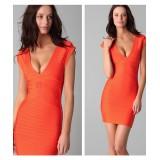 Wholesale - HERVE LEGER Slim Bandage Party Dress Orange