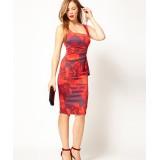 Wholesale - Karen Millen Feminine Floral Print Dress Red Multi DP123