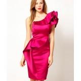 Wholesale - Karen Millen One Shoulder Pure Color Slim Party Dress DP028