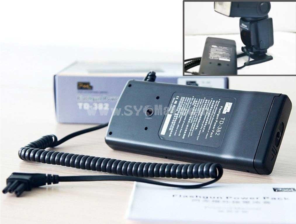 Pixel TD-382 Flash Power Battery Pack for Nikon SB-900