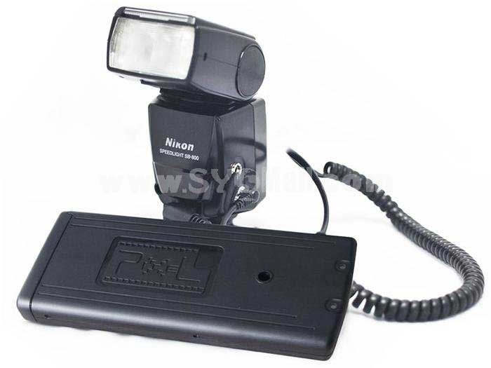 Pixel Flash Power Battery Pack For Nikon N/SB-800 80DX 28DX SD-8A (TD-383)