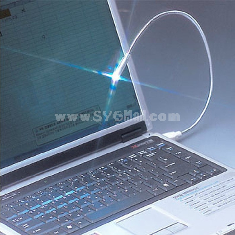 LED Wired Notebook Laptop PC USB Desk Reading Flexible Lamp Light (W1152)